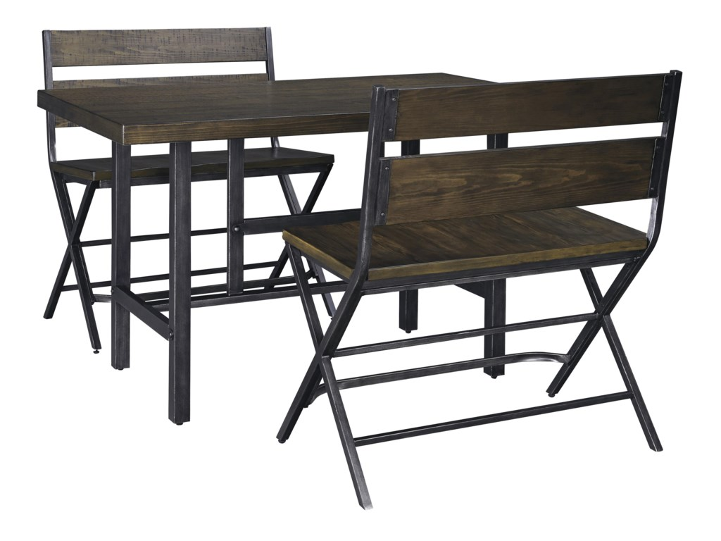 Signature Design by Ashley Kavara3-Piece Counter Table & Double Bar Stool Set