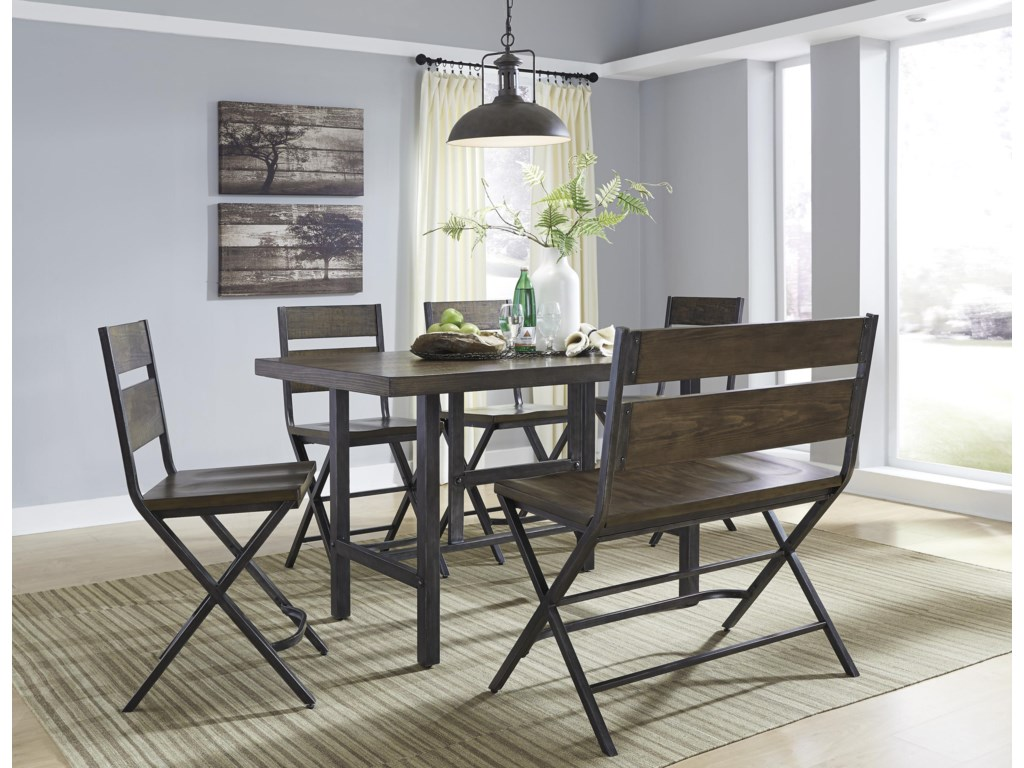 Signature Design by Ashley Kavara6-Piece Counter Table & Double Bar Stool Set