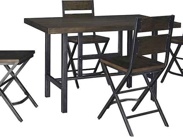 5-Piece Counter Table & Bar Stool Set