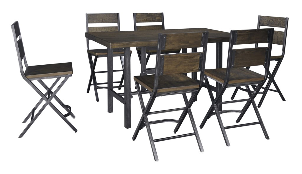 Foot Dining Room Table korvina 7-piece rectangular dining room counter table w/ pine