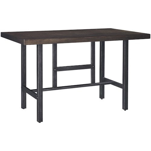 Signature Design By Ashley Kavara Rectangular Dining Room Counter Table W Pine Veneeretal