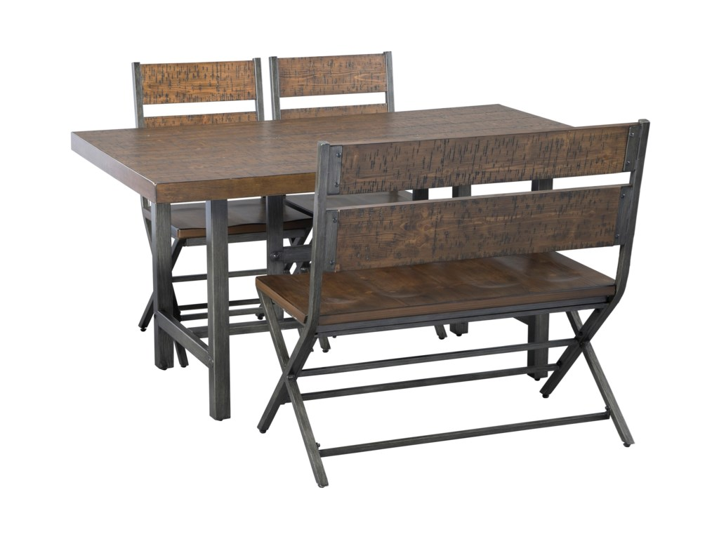 Signature Design by Ashley Kavara4-Piece Rectangular Table Set with Bench