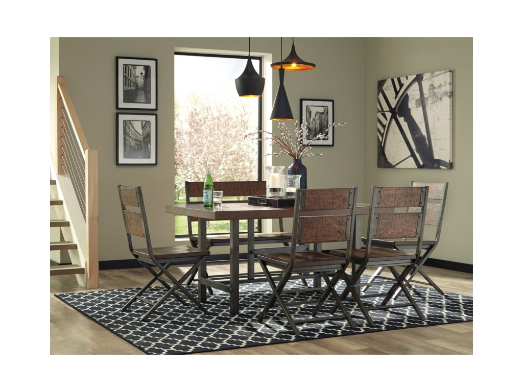Signature Design by Ashley Kavara6-Piece Rectangular Table Set with Bench