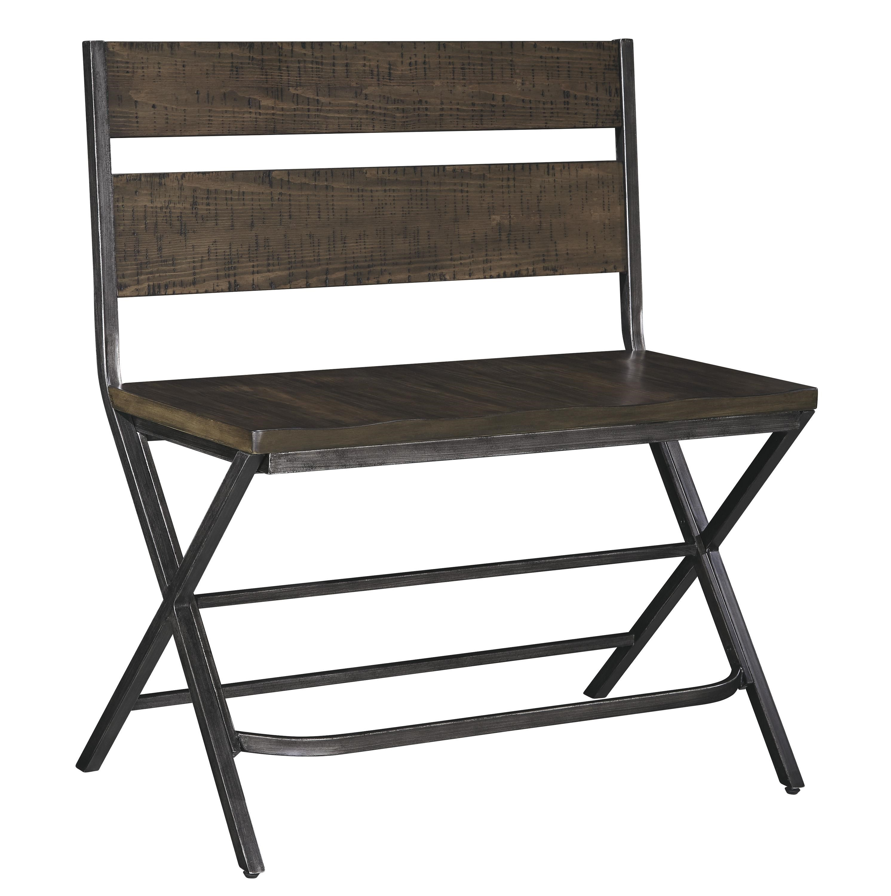 Signature Design by Ashley Kavara Medium Brown Double Bar Stool w Shaped Foot Rest and