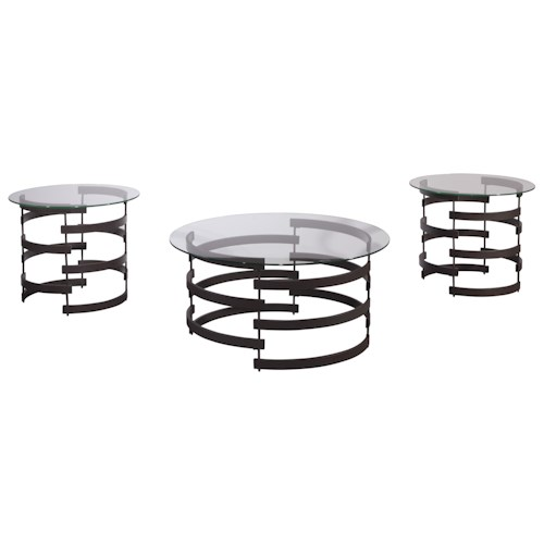 Signature Design by Ashley Kaymine Modern Occasional Table Set
