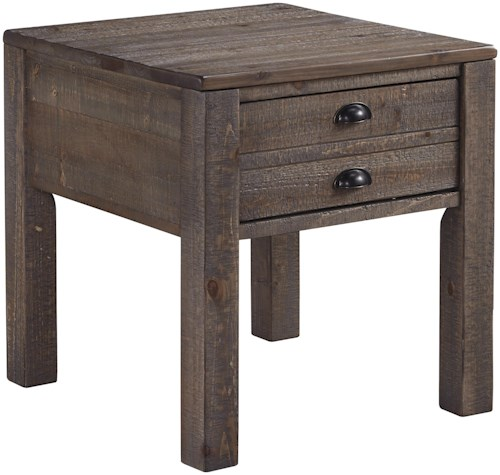 Signature Design by Ashley Keeblen Rectangular End Table with 1 Drawer