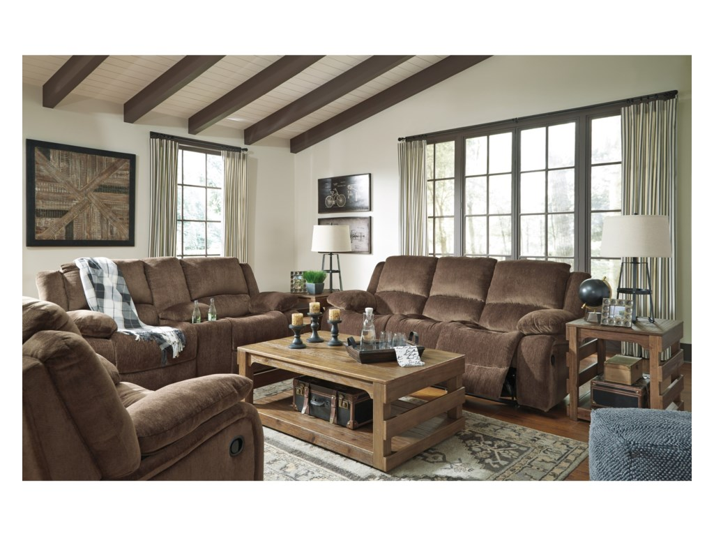 Ashley (Signature Design) KellerhauseDouble Reclining Loveseat w/ Console