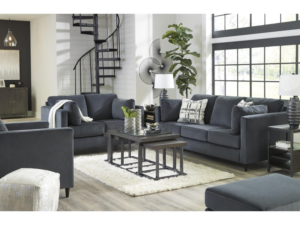 Kennewick Shadow Sofa, Chair and Ottoman Set by Signature Design by Ashley  at Sam Levitz Furniture