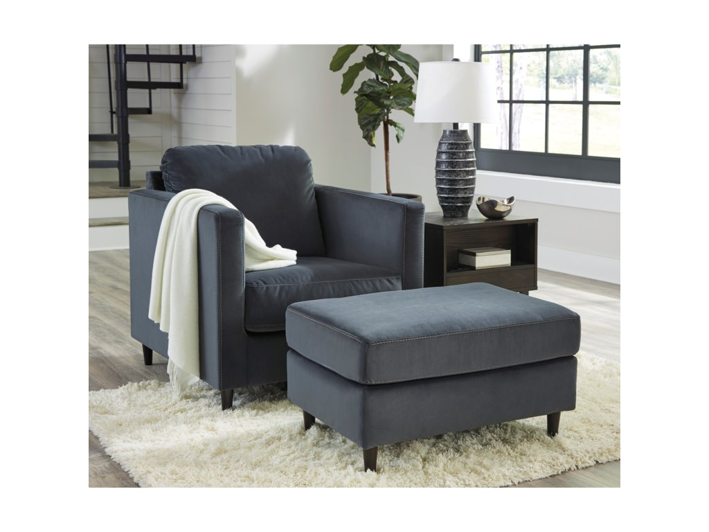 Signature Design by Ashley KennewickChair and Ottoman Set
