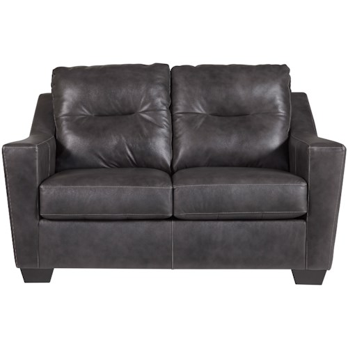 Signature Design by Ashley Kensbridge Leather Match Contemporary Loveseat