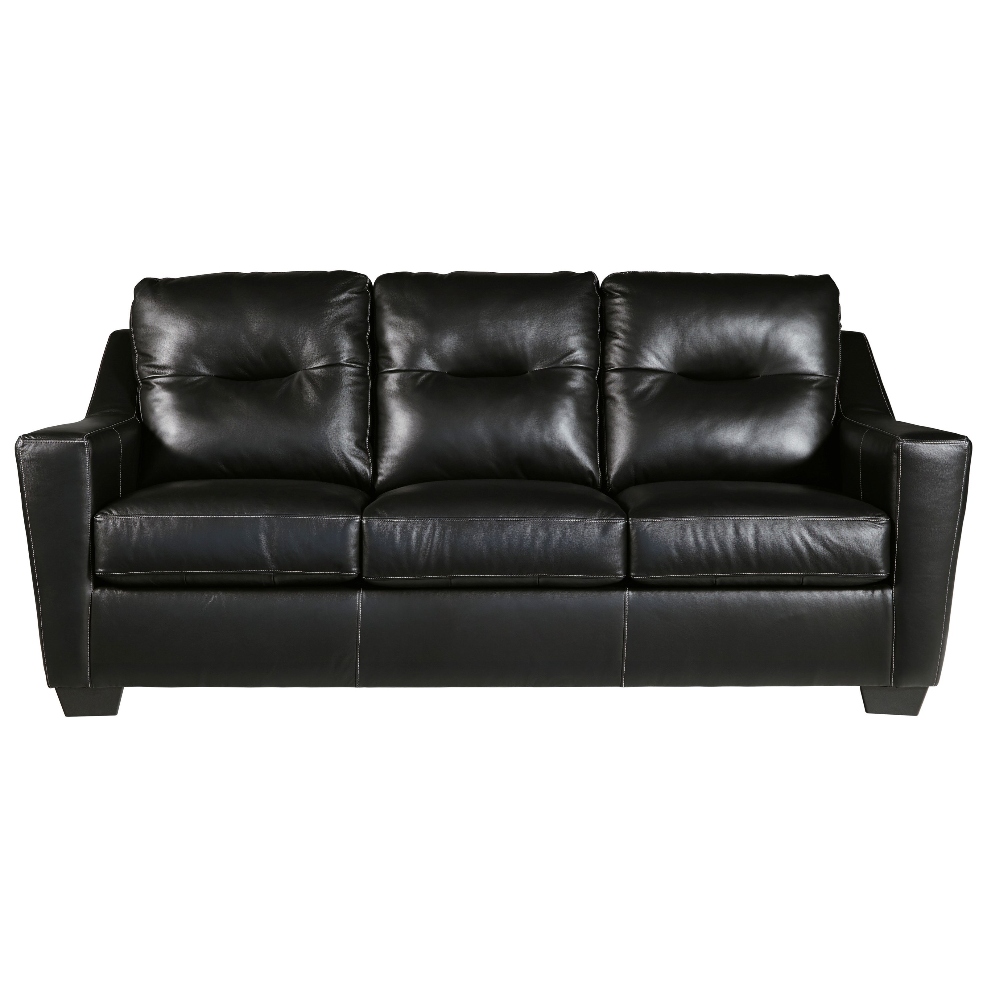 Exceptional Signature Design By Ashley Kensbridge Leather Match Contemporary Sofa