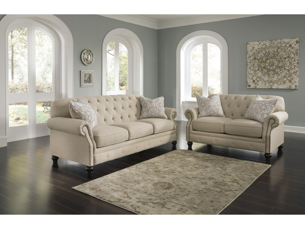 Signature Design KieranStationary Living Room Group