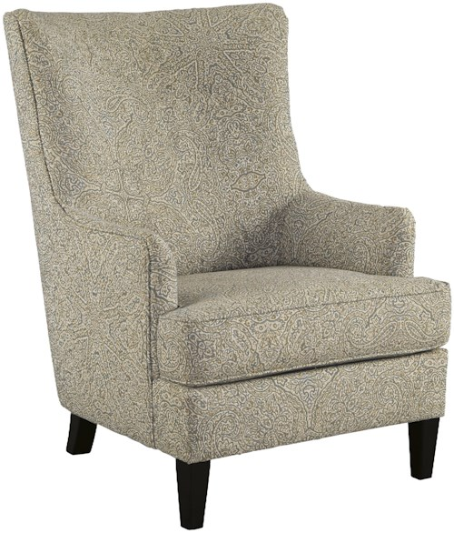 Signature Design by Ashley Kieran Transtional Accent Chair with Wing Back