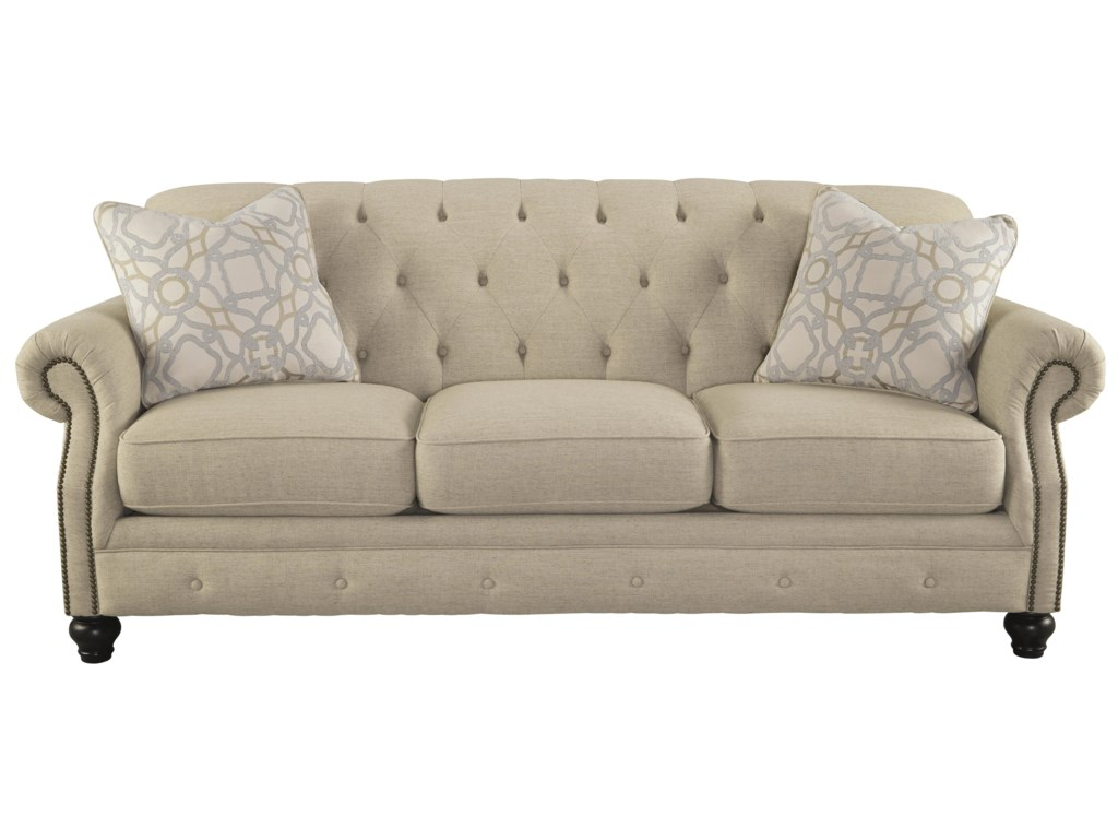 Signature Design By Ashley Kieran Traditional Sofa With Tufted Back