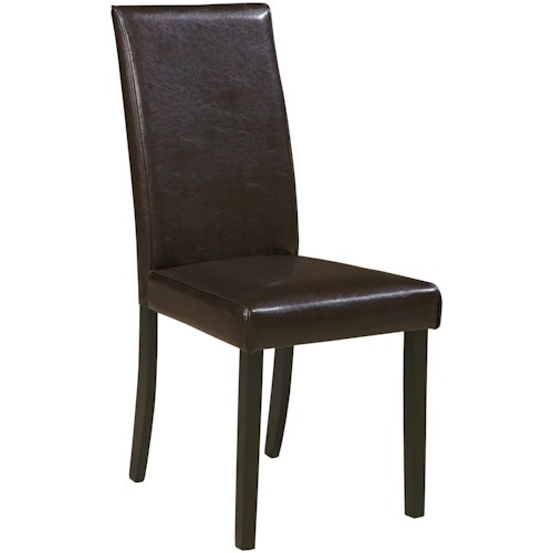 Signature Design by Ashley Kimonte Dining Upholstered Side Chair - Brown