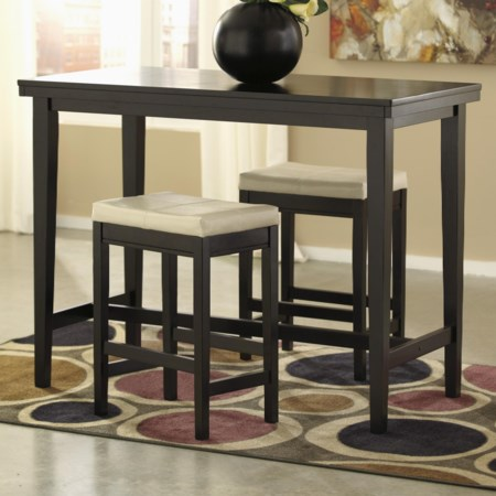 3-Piece Counter Table Set with Stools
