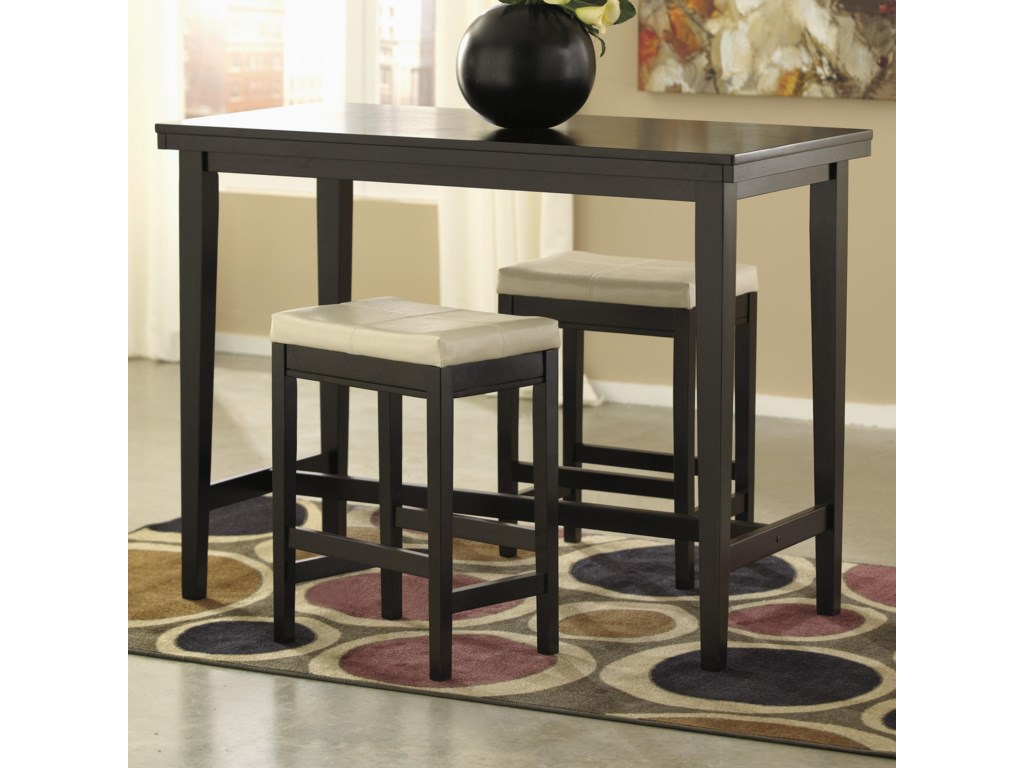 Signature Design by Ashley Kimonte3-Piece Counter Table Set with Stools