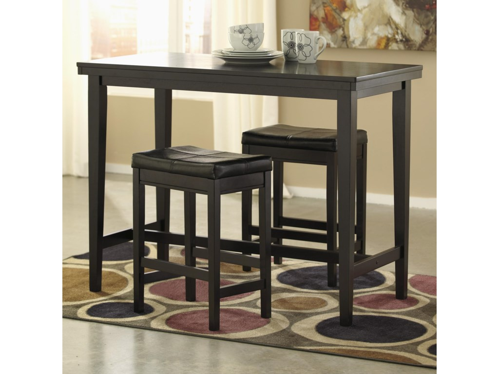 Ashley Signature Design Kimonte3-Piece Counter Table Set with Stools