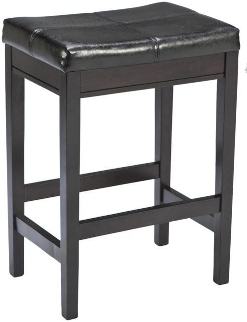 Signature Design by Ashley Kimonte Contemporary Backless Upholstered Barstool - Dark Brown