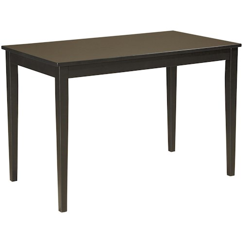 Signature Design by Ashley Kimonte Contemporary Rectangular Dining Room Table