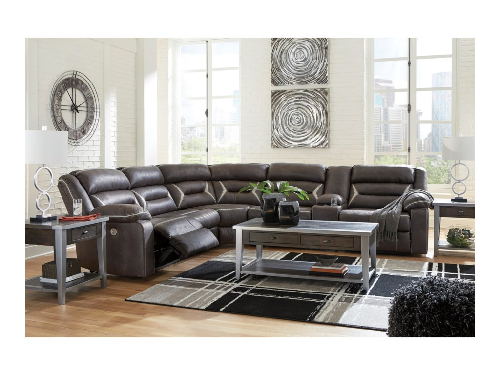 Benchcraft KincordPower Reclining Sectional