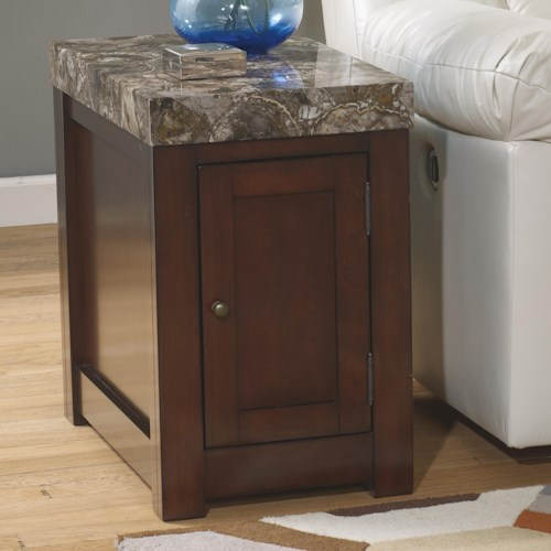 Signature Design by Ashley Kraleene Chair Side End Table with Door