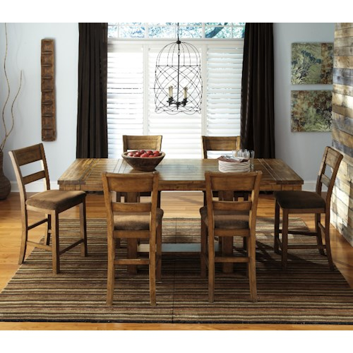 Signature Design by Ashley Krinden 7-Piece Counter Extension Table Set