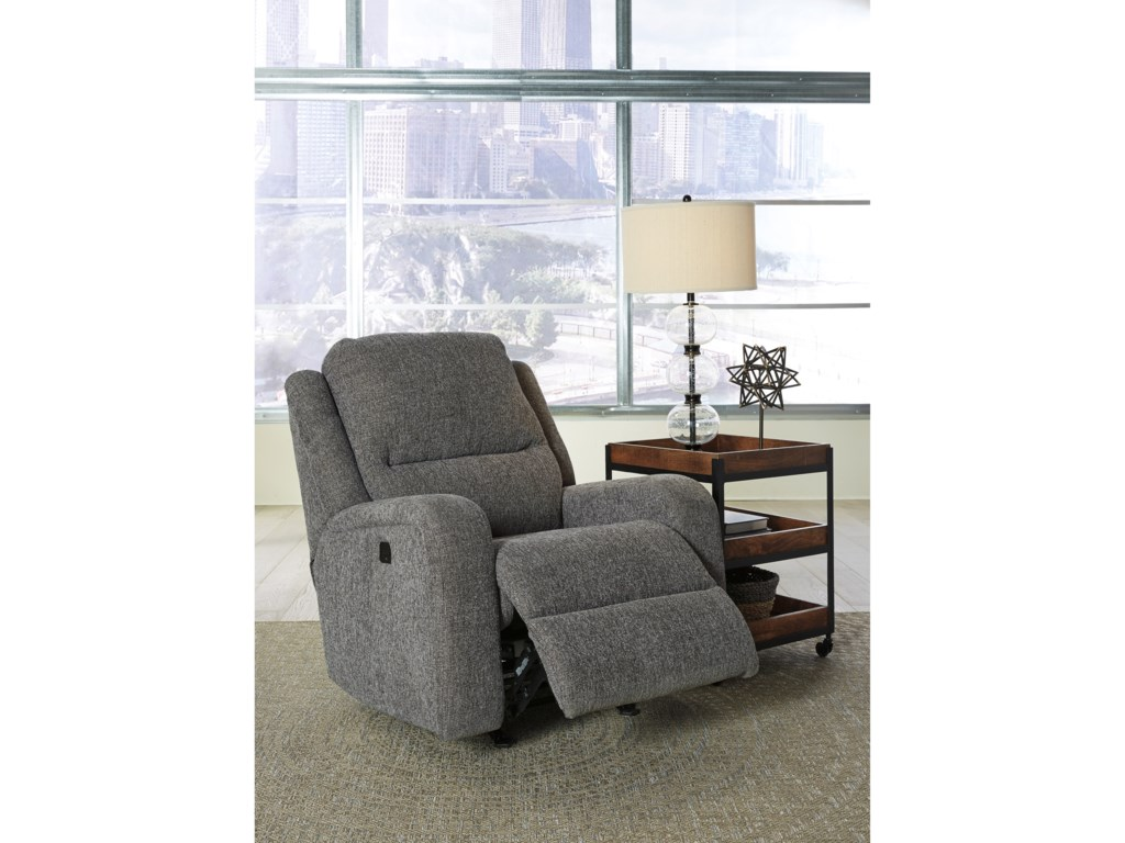 Signature Design by Ashley KrismenPower Rocker Recliner w/ Adjustable Headrest
