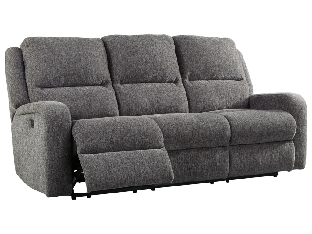 Signature Design by Ashley KrismenPower Reclining Sofa w/ Adjustable Headrest