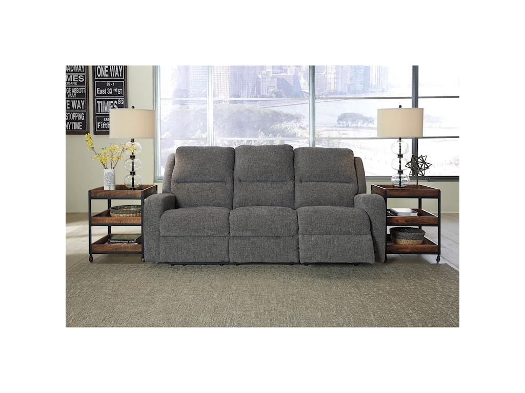 Signature Design by Ashley KrismenPower Reclining Sofa w/ Adjustable Headrest