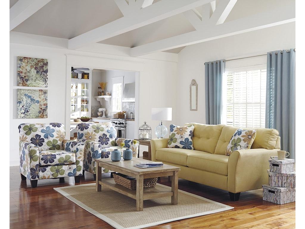 Ashley (Signature Design) Kylee - Goldenrod Stationary Living Room ...