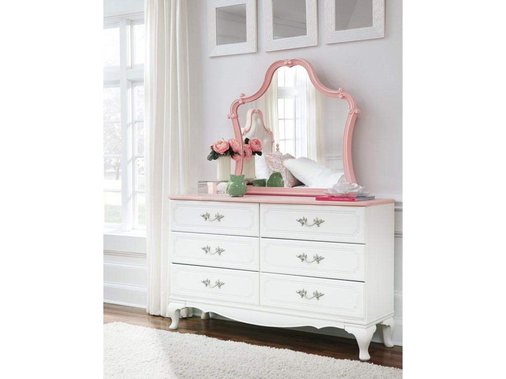 Signature Design by Ashley LaddiDresser and Mirror Set