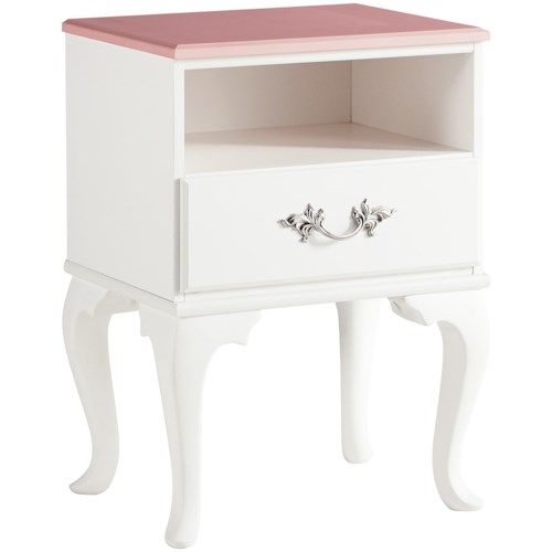 Signature Design by Ashley Laddi One Drawer Night Stand with USB Ports