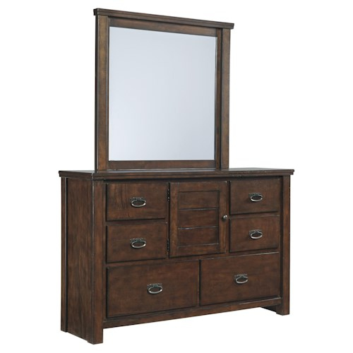 Signature Design by Ashley Ladiville Bedroom Dresser & Mirror