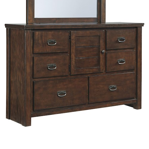 Signature Design by Ashley Ladiville Dresser with Door & 6 Drawers