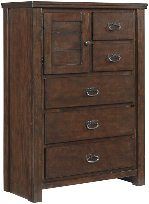 Signature Design by Ashley Ladiville Chest with Door and 5 Drawers