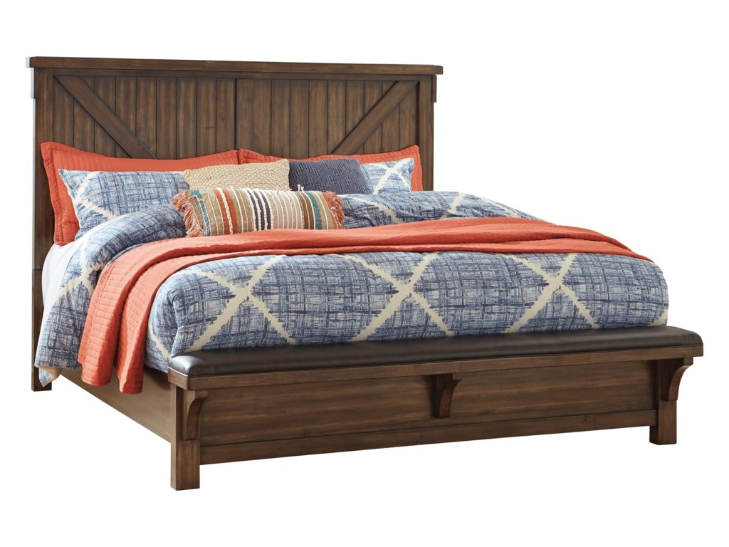 Signature Design by Ashley LakeleighQueen Panel Bed with Footboard Bench