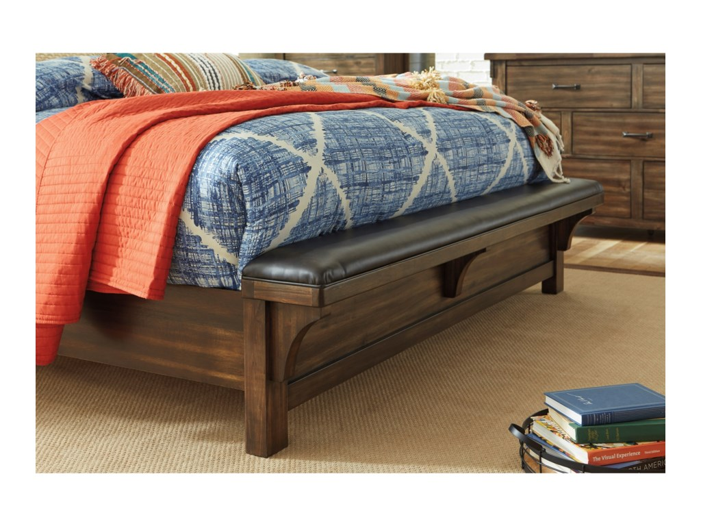 Signature Design by Ashley LakeleighKing Panel Bed with Footboard Bench