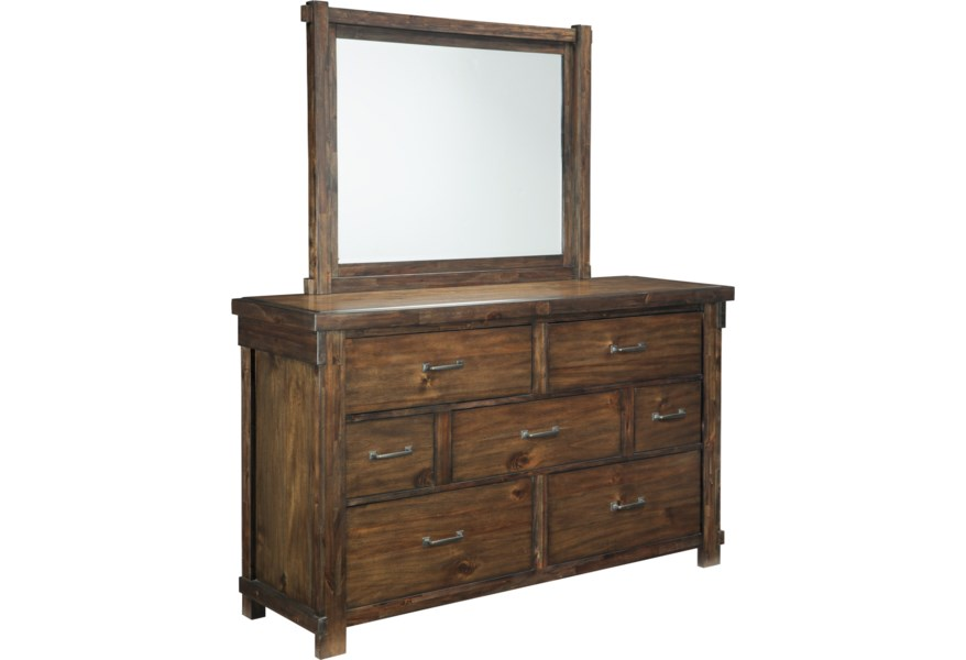 Ashley Signature Design Lakeleigh Dresser With 7 Drawers Bedroom Mirror Dunk Bright Furniture Dresser Mirror Sets