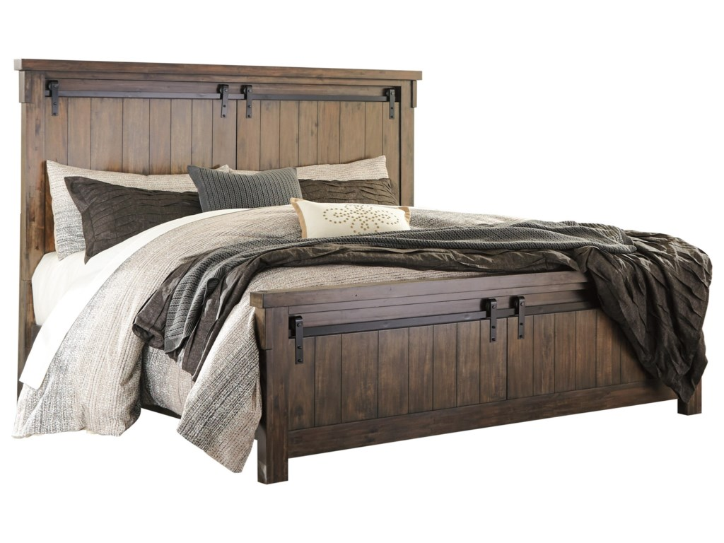 Signature Design By Ashley Lakeleigh King Panel Bed With Barn Door