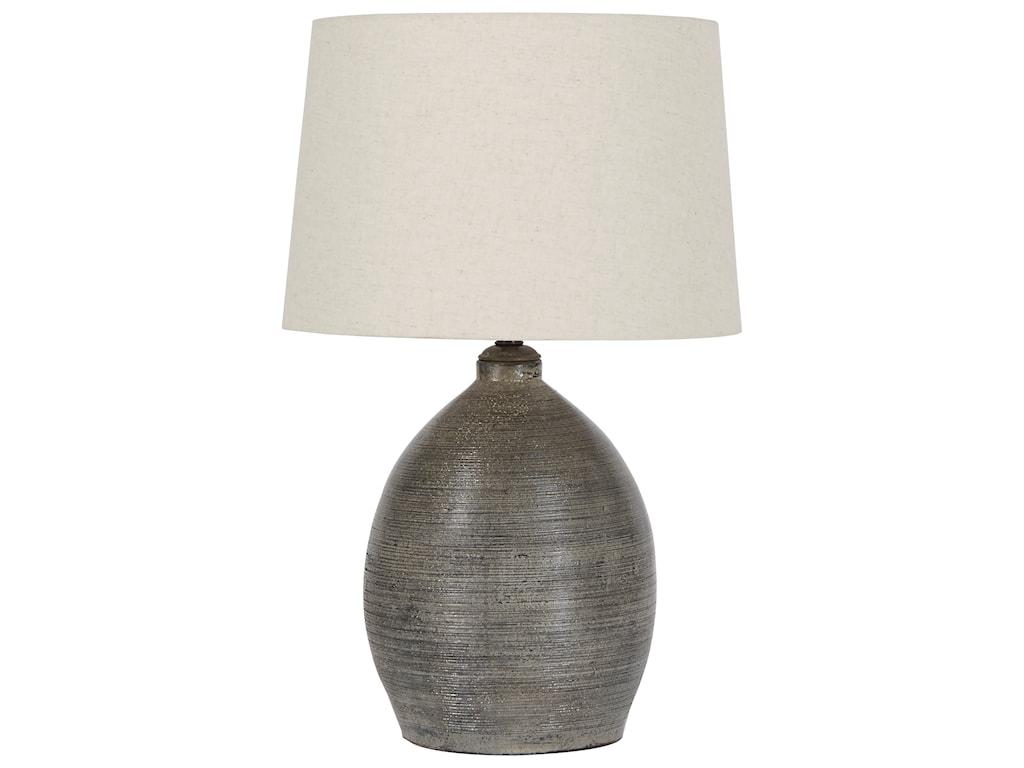 Signature Design by Ashley Lamps - CasualJoyelle Gray Terracotta Table Lamp