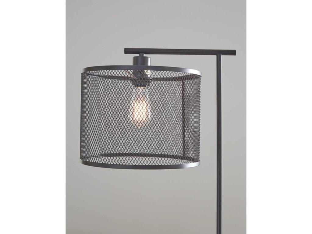 Signature Design by Ashley Lamps - CasualNolden Bronze Finish Metal Floor Lamp