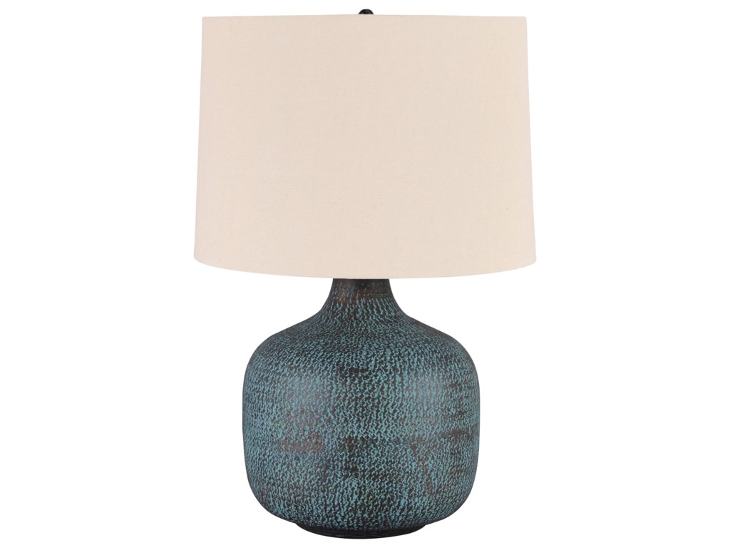 Signature Design by Ashley Lamps - CasualMalthace Patina Metal Table Lamp