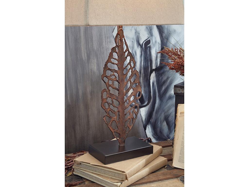 Signature Design by Ashley Lamps - CasualSet of 2 Jolisa Metal Table Lamps