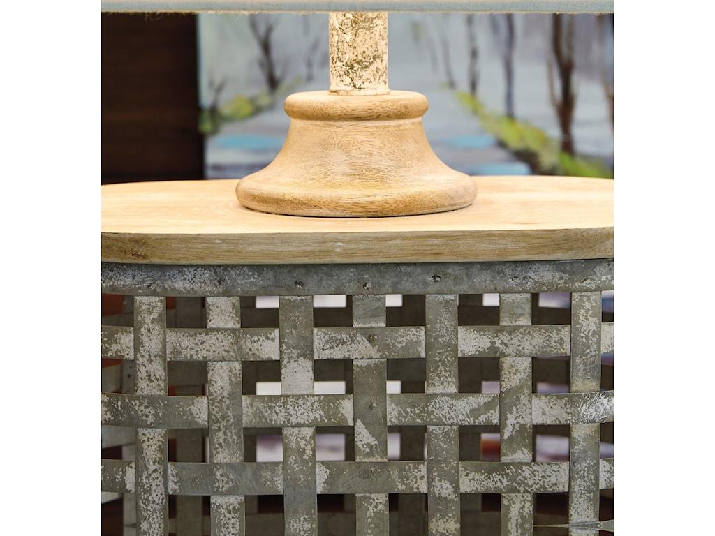 Signature Design by Ashley Lamps - CasualDeondra Gray Metal Table Lamp