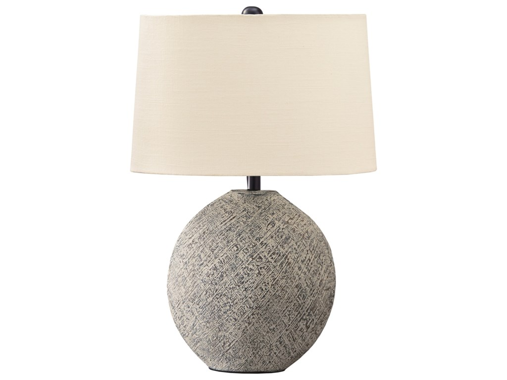 Signature Design by Ashley Lamps - CasualHarif Beige Table Lamp
