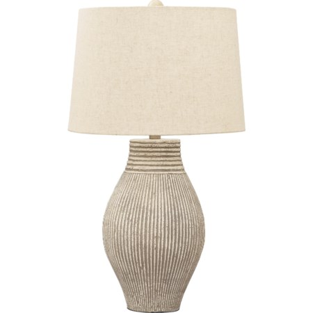 Layal Black Paper Table Lamp