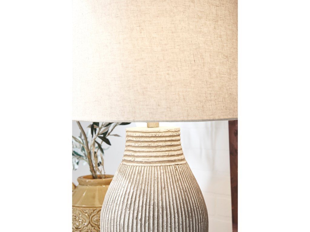 Signature Design by Ashley Lamps - CasualLayal Black Paper Table Lamp