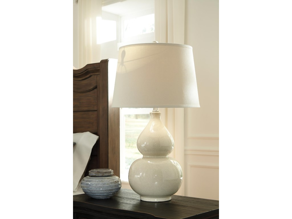 Signature Design by Ashley Lamps - ContemporaryCeramic Table Lamp