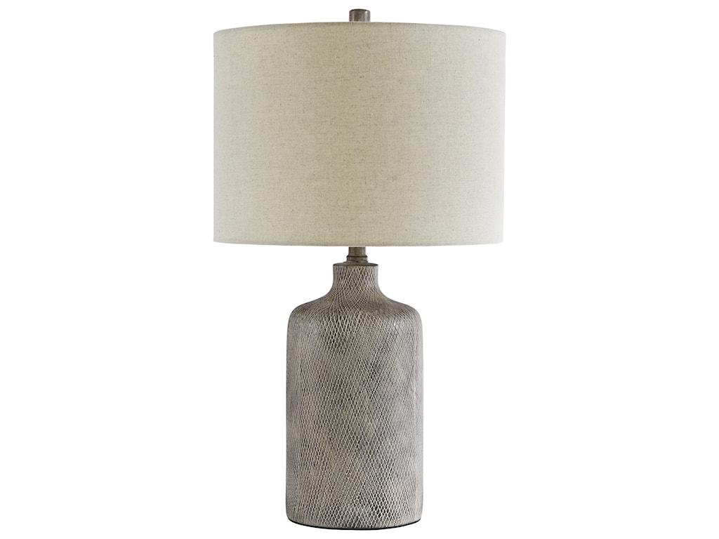 Signature Design by Ashley Lamps - ContemporaryLinus Antique Black Ceramic Table Lamp
